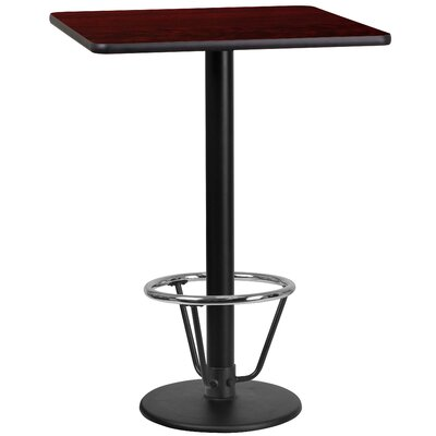 Basil Laminate Dining Table Size: 43.125 H x 36 W x 36 D, Top Color: Mahogany
