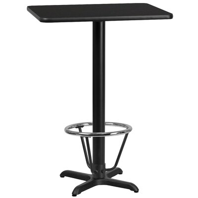 Basquez Laminate Dining Table Size: 43.125 H x 30 W x 42 D, Top Color: Black