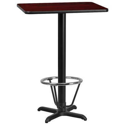 Basquez Laminate Dining Table Size: 43.125 H x 24 W x 42 D, Top Color: Mahogany