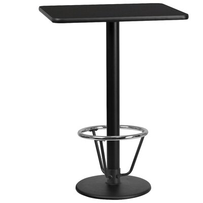 Basnight Laminate Dining Table Size: 43.125 H x 24 W x 42 D, Top Color: Black