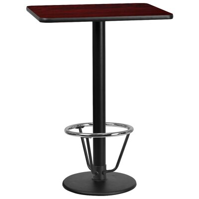 Basnight Laminate Dining Table Size: 43.125 H x 30 W x 42 D, Top Color: Mahogany