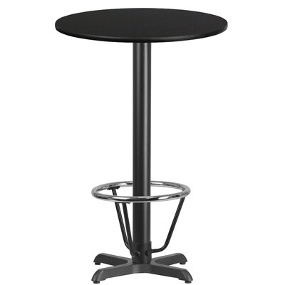 Baskin Laminate Dining Table Size: 43.125 H x 24 W x 24 D, Top Color: Black