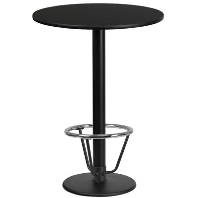 Basinger Laminate Dining Table Size: 43.125 H x 36 W x 36 D, Top Color: Black