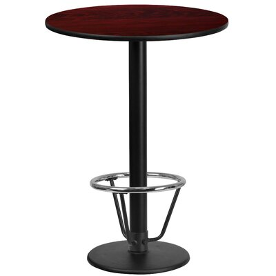 Basinger Laminate Dining Table Size: 43.125 H x 24 W x 24 D, Top Color: Mahogany