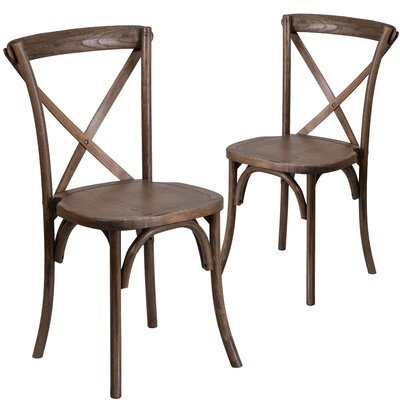 Ivonne Series Solid Wood Dining Chair Color: Brown