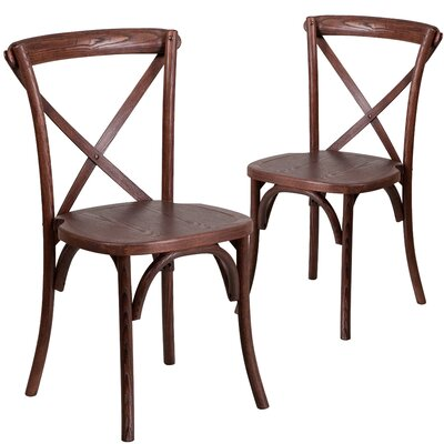 Ivonne Series Solid Wood Dining Chair Color: Mahogany