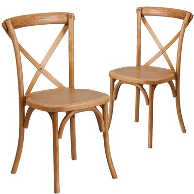 Ivonne Series Solid Wood Dining Chair Color: Oak