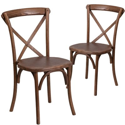 Ivonne Series Solid Wood Dining Chair Color: Pecan