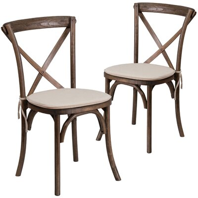 Ivonne Upholstered Dining Chair Color: Brown