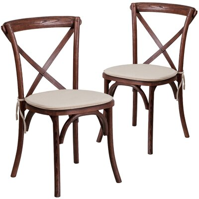 Ivonne Upholstered Dining Chair Color: Mahogany
