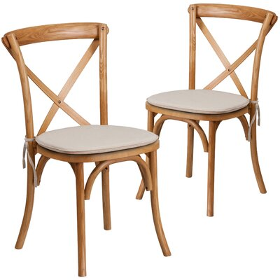 Ivonne Upholstered Dining Chair Color: Oak