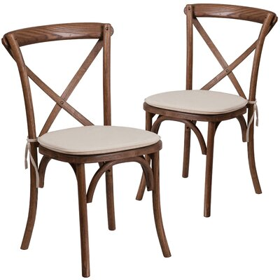 Ivonne Upholstered Dining Chair Color: Pecan