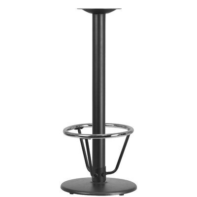 Round Restaurant Table Base Size: 42H x 18W x 18D