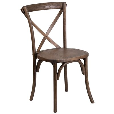 Ivonne Solid Wood Dining Chair Color: Brown