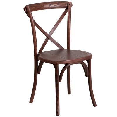 Ivonne Solid Wood Dining Chair Color: Mahogany