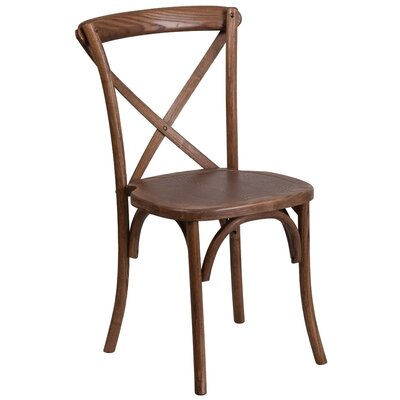 Ivonne Solid Wood Dining Chair Color: Pecan