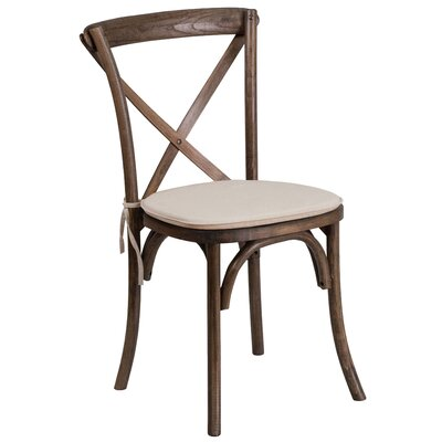 Ivonne Upholstered Wood Dining Chair Color: Brown
