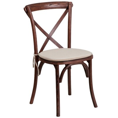 Ivonne Upholstered Wood Dining Chair Color: Mahogany
