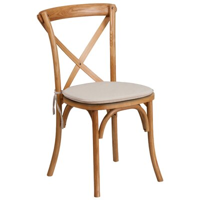 Ivonne Upholstered Wood Dining Chair Color: Oak