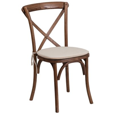 Ivonne Upholstered Wood Dining Chair Color: Pecan