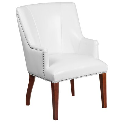 Deontaye Leather Guest Chair Seat Color: White