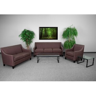 Deontaye Transitional 3 Piece Living Room Set