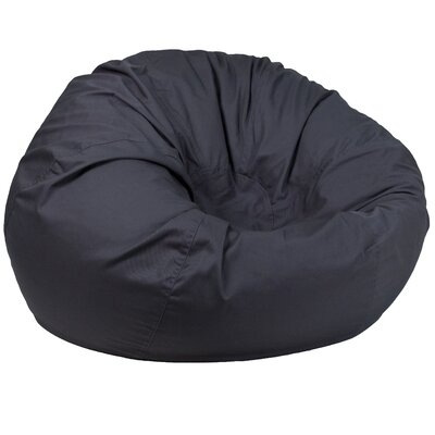 Solid Bean Bag Chair Upholstery: Gray