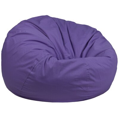 Solid Bean Bag Chair Upholstery: Purple