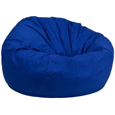 Solid Bean Bag Chair Upholstery: Royal Blue