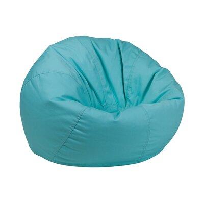 Solid Kids Bean Bag Chair Upholstery: Mint Green