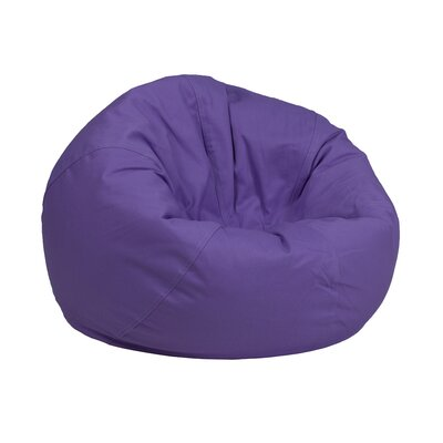 Solid Kids Bean Bag Chair Upholstery: Purple