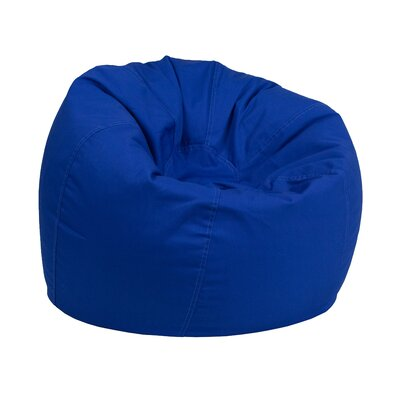 Solid Kids Bean Bag Chair Upholstery: Royal Blue