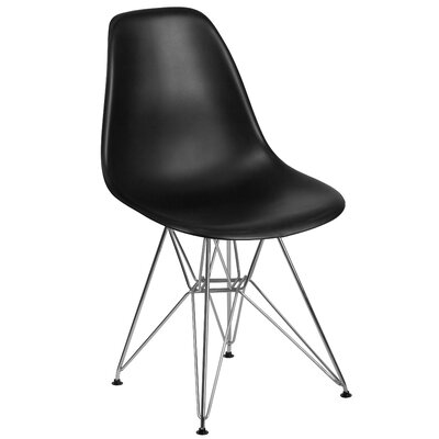 Ressler Modern Plastic Dining Chair Color: Black