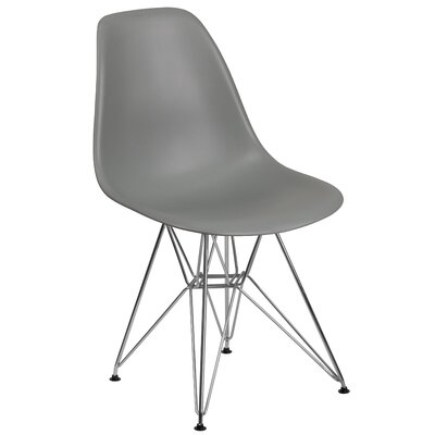 Ressler Modern Plastic Dining Chair Color: Gray