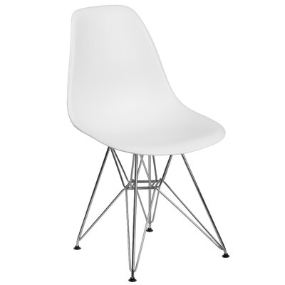Ressler Modern Plastic Dining Chair Color: White