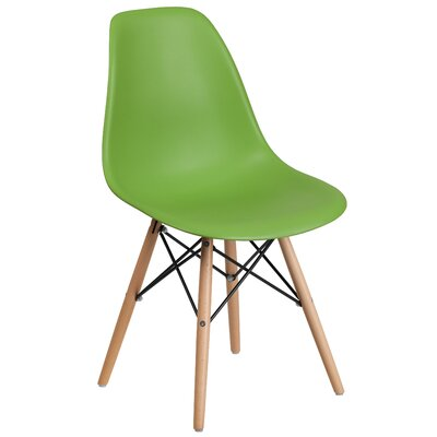 Ressler Plastic Dining Chair (Set of 2) Color: Green