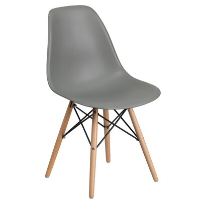 Ressler Plastic Dining Chair (Set of 2) Color: Gray