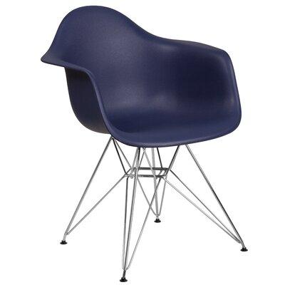 Ressler Modern Plastic Dining Chair Color: Navy