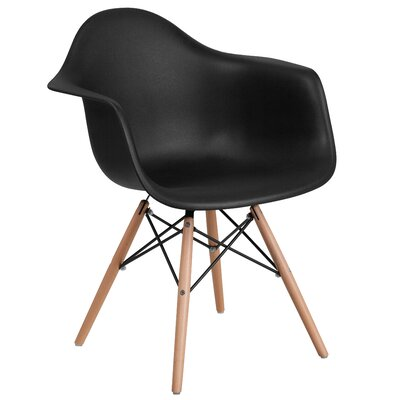 Ressler Plastic Dining Chair Color: Black