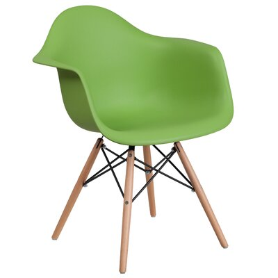 Ressler Plastic Dining Chair Color: Green