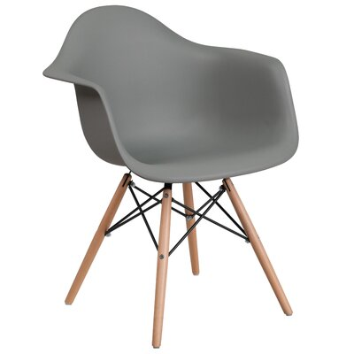 Ressler Plastic Dining Chair Color: Gray