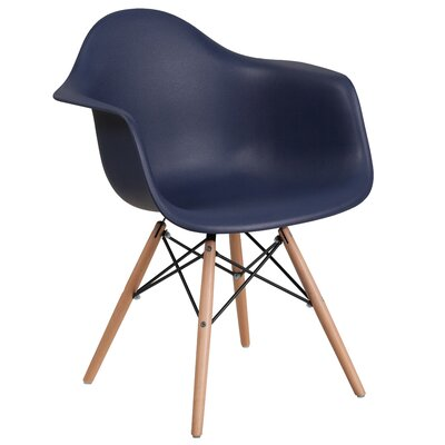 Ressler Plastic Dining Chair Color: Navy