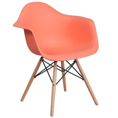 Ressler Plastic Dining Chair Color: Peach