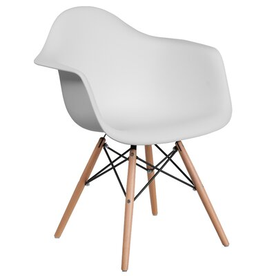 Ressler Plastic Dining Chair Color: White