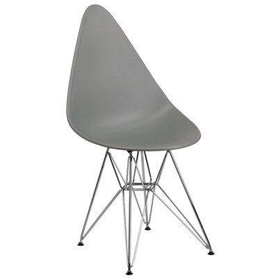 Ressler Teardrop Plastic Dining Chair Color: Gray