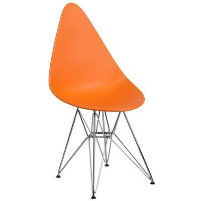 Ressler Teardrop Plastic Dining Chair Color: Orange