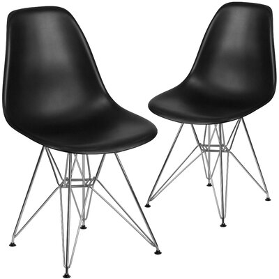 Ressler Modern Guest Chair Seat Color: Black