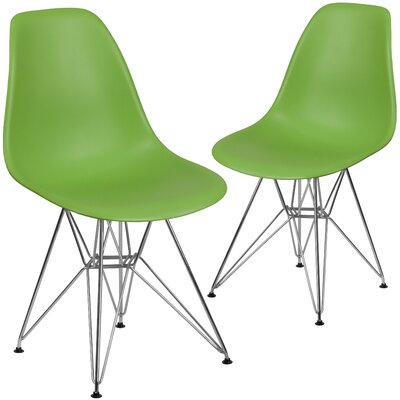 Ressler Modern Guest Chair Seat Color: Green