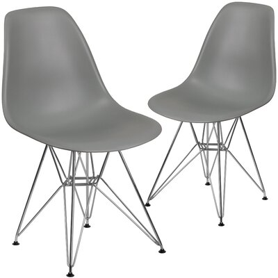 Ressler Modern Guest Chair Seat Color: Gray