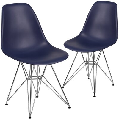 Ressler Modern Guest Chair Seat Color: Navy